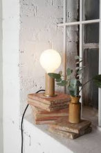 Tala Walnut touch table lamp - [oosterlinck]