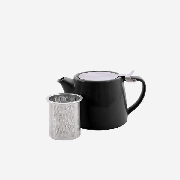 Point-Virgule Theepot met zeef mat zwart 500ml - [oosterlinck]