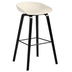 Hay AAS32 About a stool barkruk - zwart gelakt eik - high - [oosterlinck]