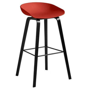Hay AAS32 About a stool barkruk - zwart gelakt eik - high - oosterlinck