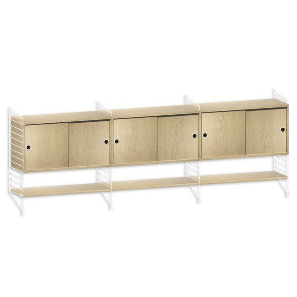 String System dressoir large wit eik - [oosterlinck]