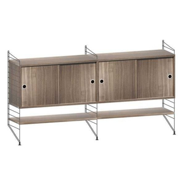 String System dressoir medium zwart walnoot - [oosterlinck]
