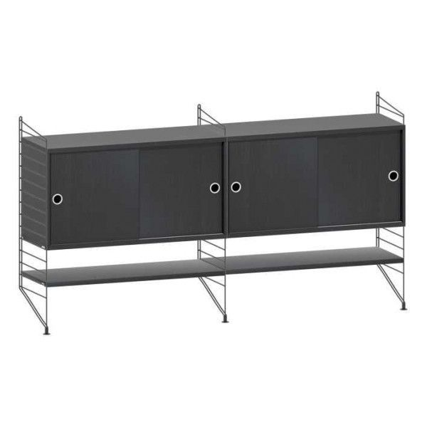 String System dressoir medium zwart - [oosterlinck]