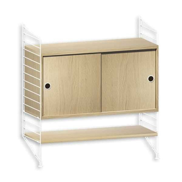 String System dressoir small wit eik