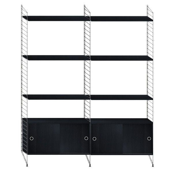 String System hoge kast medium zwart - [oosterlinck]