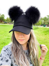 Load image into Gallery viewer, Black PomPom Dad Cap