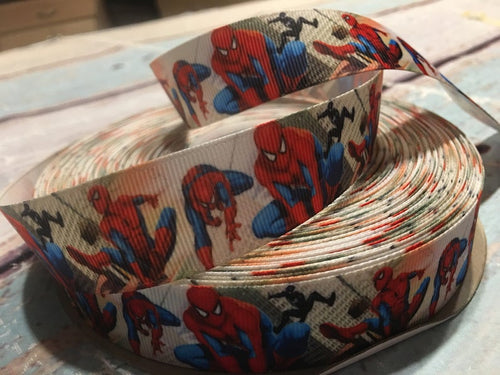 Marvel Spider-Man White x White Ribbon Bow * Pom Cap Removable Bow