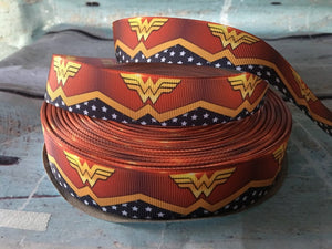 Wonder Woman x Ribbon Bow * Pom Cap Removable Bow