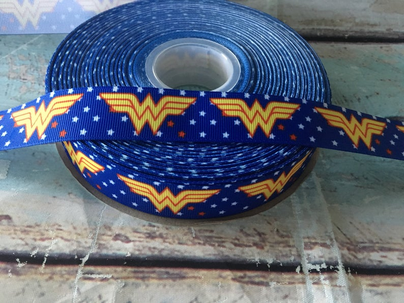Wonder Woman Vintage x Ribbon Bow * Pom Cap Removable Bow