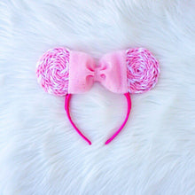 Load image into Gallery viewer, Pink x White Lollipop Minnie Mouse Ears