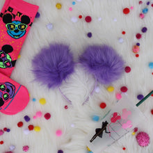 Load image into Gallery viewer, Purple Pom Poms Minnie Mouse Ears