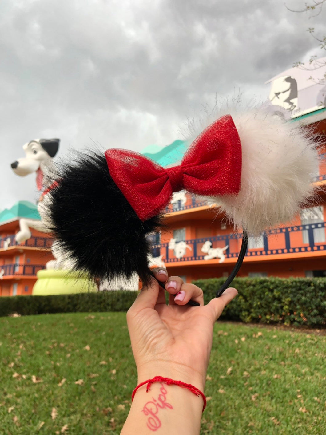 Cruella de Vil Pom Pom Minnie Mouse Ears