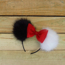 Load image into Gallery viewer, Cruella de Vil Pom Pom Minnie Mouse Ears