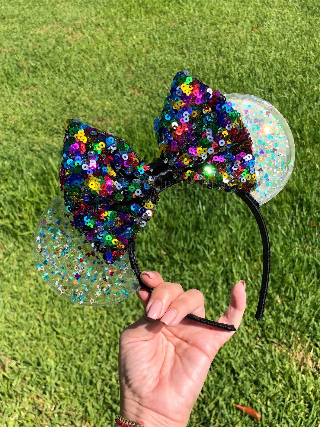 Mickey Multi Color Confetti Translucent Mouse Ears