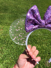 Load image into Gallery viewer, Mickey Iridescent Confetti Translucent Mouse Ears