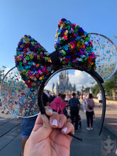 Load image into Gallery viewer, Mickey Multi Color Confetti Translucent Mouse Ears