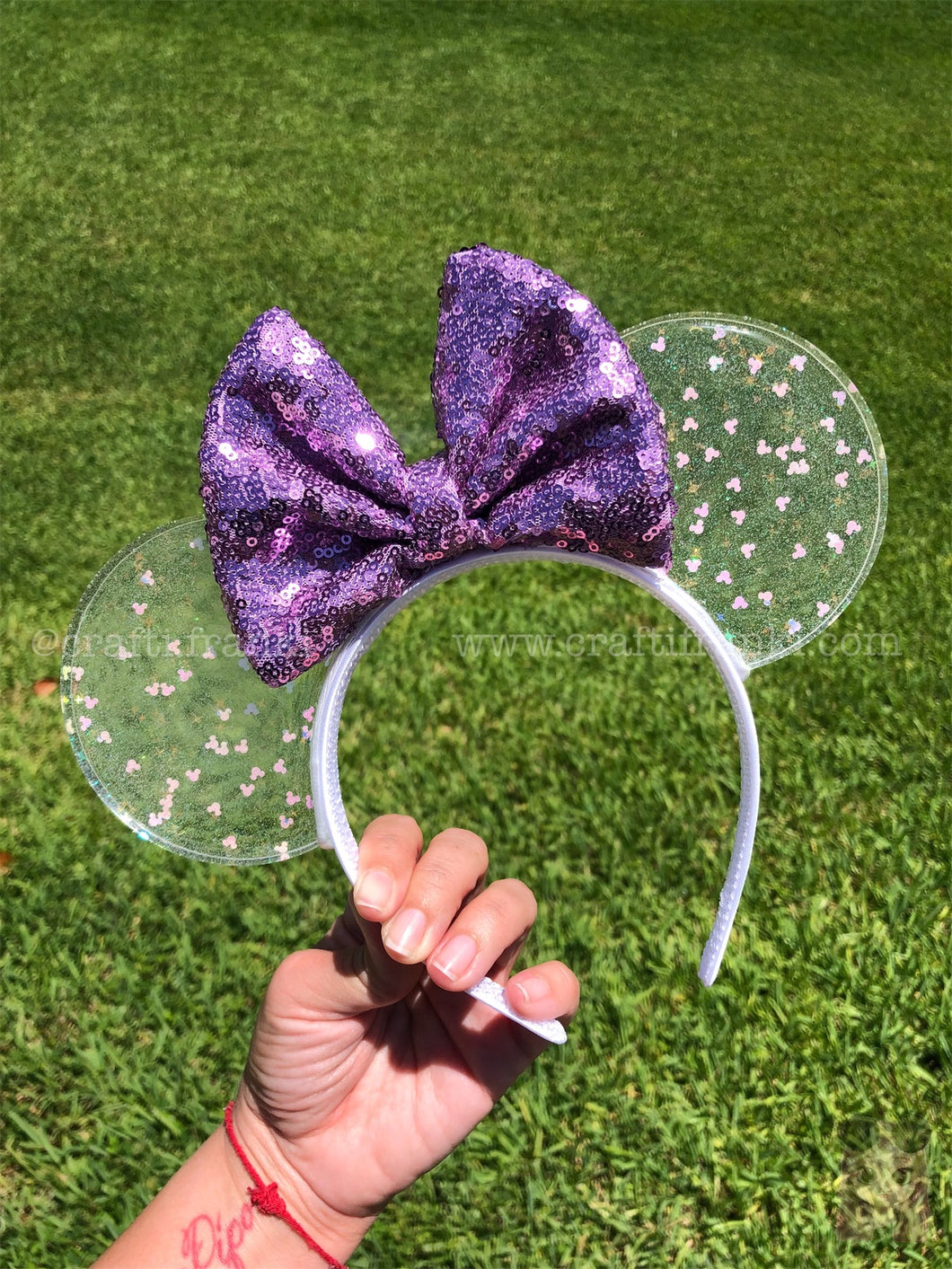 Mickey Iridescent Confetti Translucent Mouse Ears *Lilac Edition