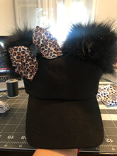 Load image into Gallery viewer, Black PomPom Dad Cap * Removable Bow (adults & youth)