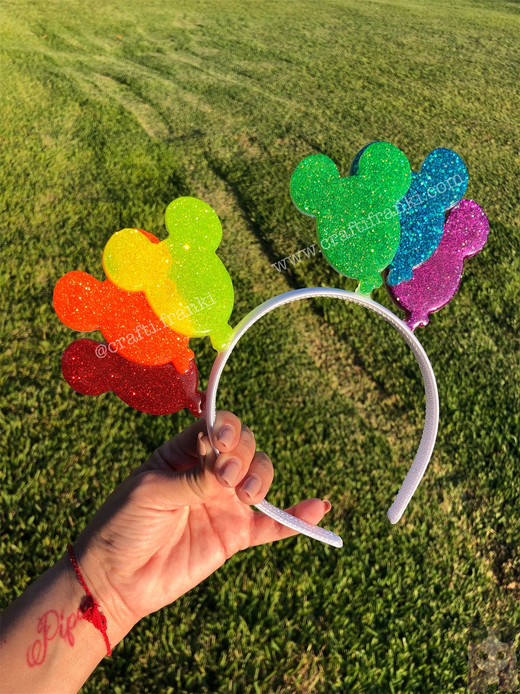 Pride Queen Mickey Balloon Translucent Mouse Ears
