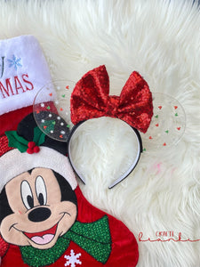 Very Merry Minnie Translucent Mouse Ears