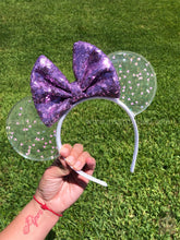 Load image into Gallery viewer, Mickey Iridescent Confetti Translucent Mouse Ears *Lilac Edition