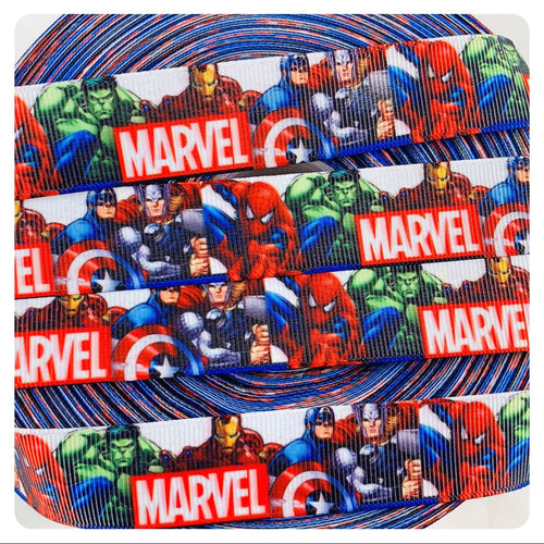 Marvel Avengers White x White Ribbon Bow * Pom Cap Removable Bow