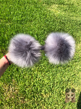Load image into Gallery viewer, Gray Pom Poms Minnie Mouse Ears