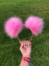 Load image into Gallery viewer, Light Pink Pom Poms Minnie Mouse Ears