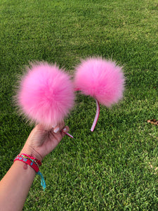 Light Pink Pom Poms Minnie Mouse Ears