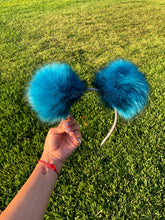 Load image into Gallery viewer, Blue Pom Poms Minnie Mouse Ears