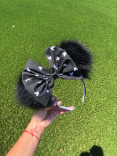 Load image into Gallery viewer, Black Pom Poms x Mickey Bow Minnie Mouse Ears