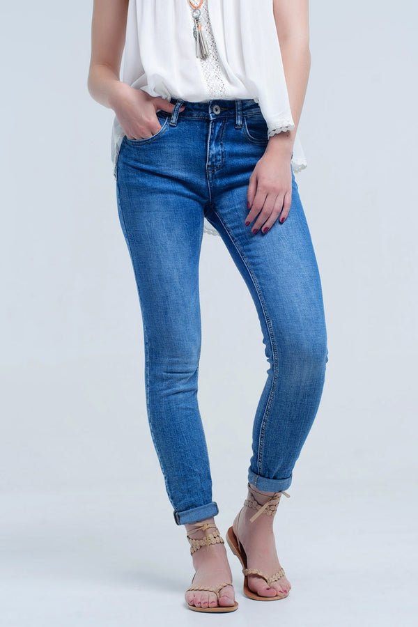 Basic  Jeans Pants With Pockets
