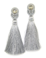 Tassel Earrings In Gray Color
