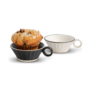 Small Cupcake Holder w/Handle and Sentiment - Black