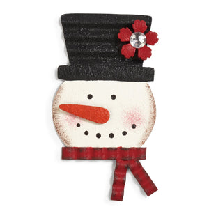 Snowman Magnetic Metal Token