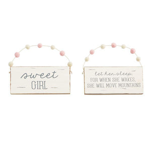 Let Her Sleep Baby Door Hanger