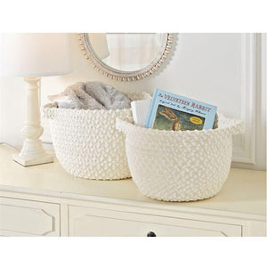 Ivory Chenille Rope Baskets