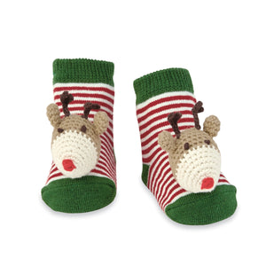 Holiday Rattle Toe Socks