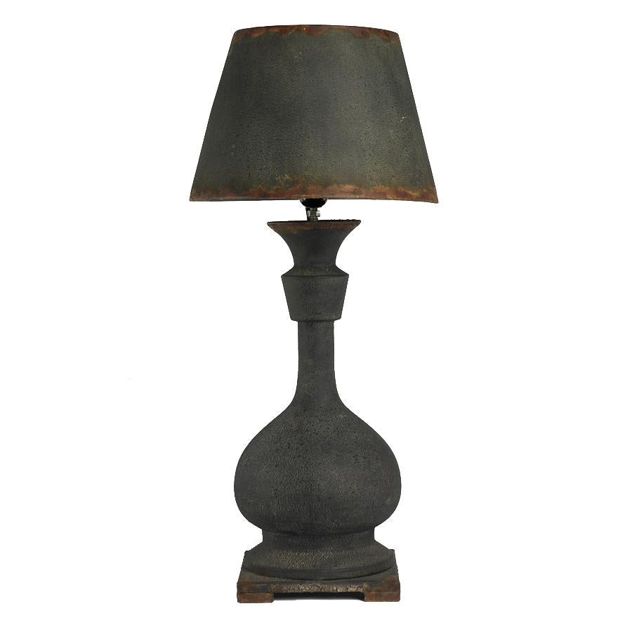 "26.5"" Black Rusty Bubble Lamp with Metal Shad"