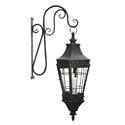 "39"" Distressed Balck Metal Lantern w/Bracket"