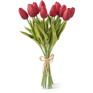 "13.5"" Red Real Touch Mini Tulip Bouquet (12)"