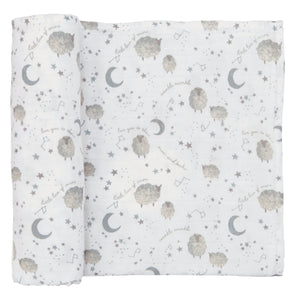 Counting Sheep Muslin Swaddle