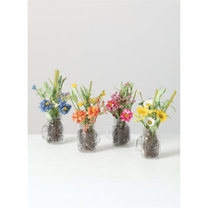 Floral Mason Jar Arrangement