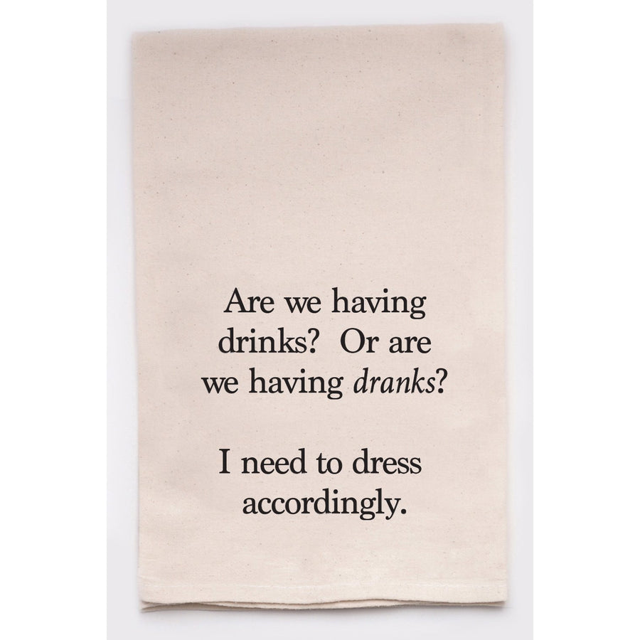 Clever Tea Towels - Drinks or Dranks