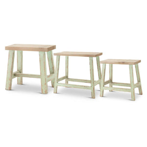 Light Green Painted Stool