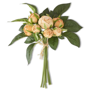 Real Touch Orange Cabbage Rose Bundle