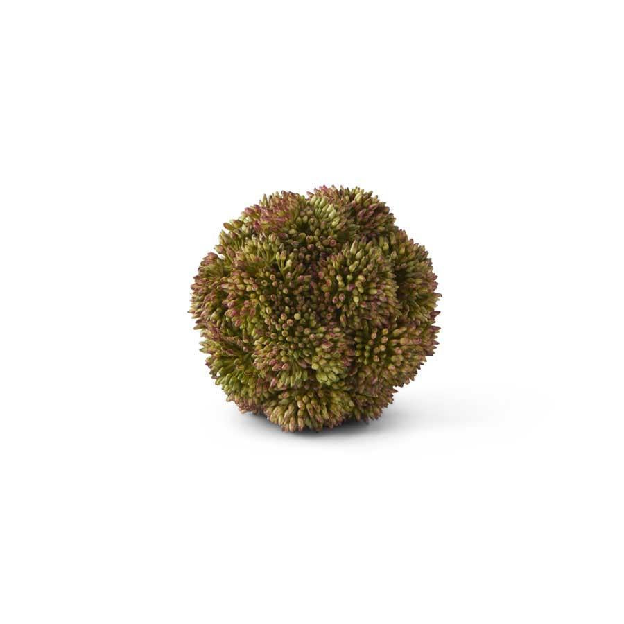 "4"" Dark Green Sedum Ball"