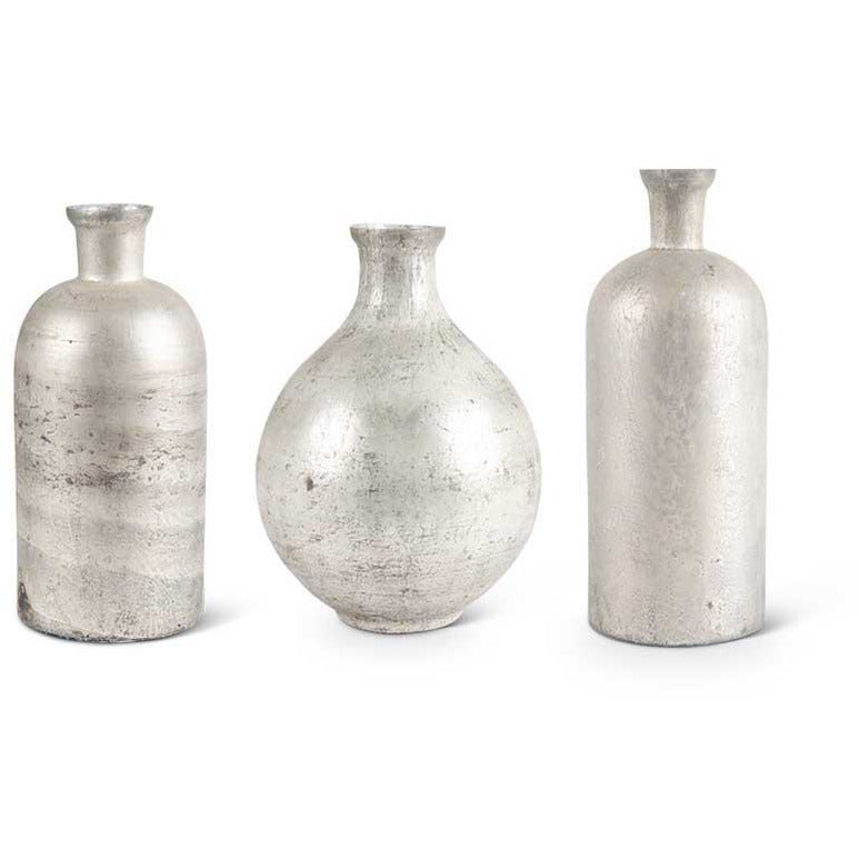 Antique Gray Glazed Vases