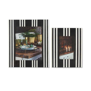 Black and White Striped Wooden Photo Frames