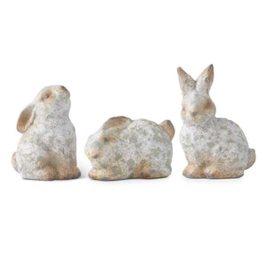 Patina Terracotta Garden Bunnies